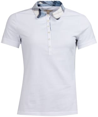 Women's Barbour Malvern Polo Shirt - White