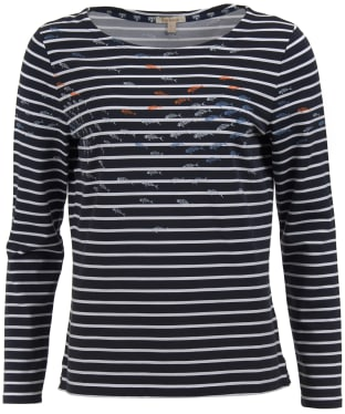 Women's Barbour Seaward Top - Navy / White