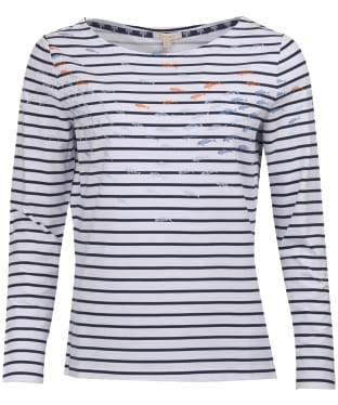 Women's Barbour Seaward Top - White / Navy