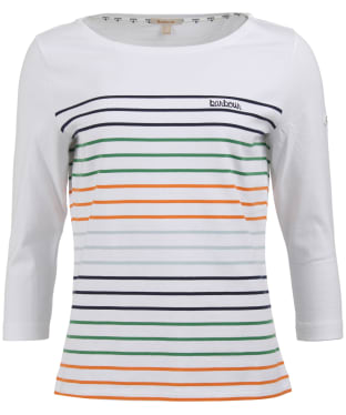 Women's Barbour Littlehampton Top - White Stripe