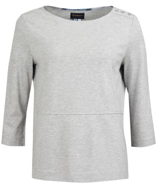 Women's Barbour Endrick Top - Light Grey Marl