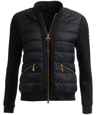 Women's Barbour International Whitham Sweater Jacket - Black