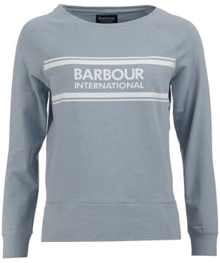 Women's Barbour International Pitch Overlayer Sweatshirt - Ice Blue