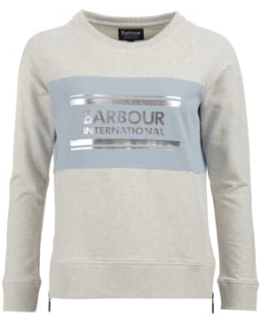 Women's Barbour International Sprinter Overlayer Sweatshirt - Pale Grey Marl