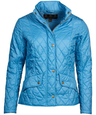 Women's Barbour Flyweight Cavalry Quilted Jacket - Blue Heaven