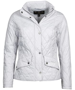 Women's Barbour Flyweight Cavalry Quilted Jacket - Ice White