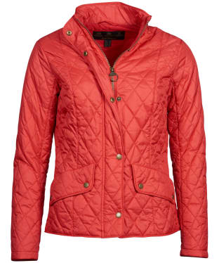 Women's Barbour Flyweight Cavalry Quilted Jacket - Pomegranate