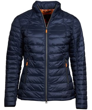 Women's Barbour Daisyhill Quilted Jacket - Navy / Marigold