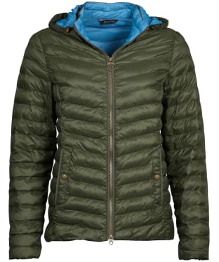 Women's Barbour Highgate Quilted Jacket - Olive / Blue Heaven