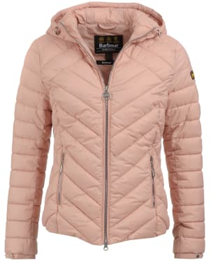 Women's Barbour International Durant Quilted Jacket - Nude