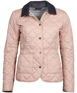 Women's Barbour Deveron Quilted Jacket - Pale Pink