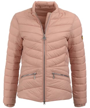 Women's Barbour International Court Quilted Jacket - Nude