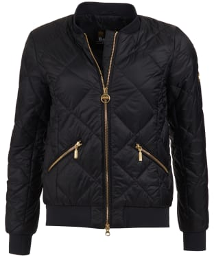 Women's Barbour International Sideline Quilted Jacket - Black