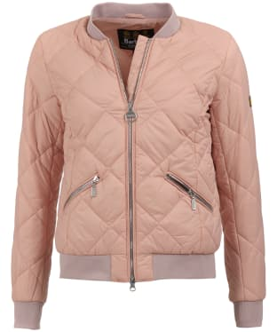 Women's Barbour International Sideline Quilted Jacket - Nude