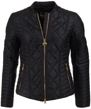 Women's Barbour International Sprinter Quilted Jacket - Black