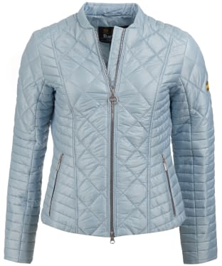 Women's Barbour International Sprinter Quilted Jacket - Ice Blue