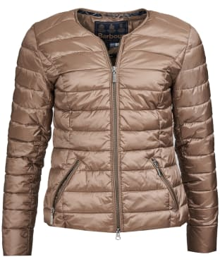 Women's Barbour Highland Quilted Jacket - Soft Gold