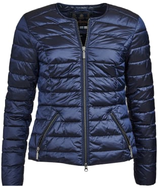 Women's Barbour Highland Quilted Jacket - Royal Navy