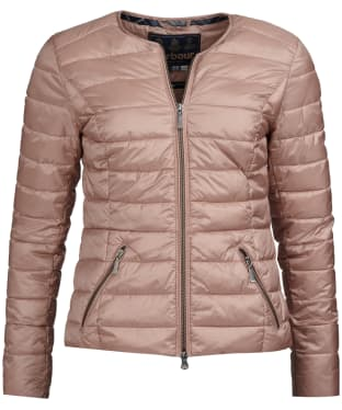 Women's Barbour Highland Quilted Jacket - Pale Pink