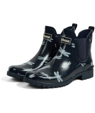 Women's Barbour Wilton Welly - Navy / Dragonfly