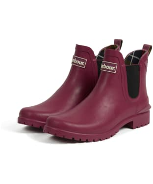 Women's Barbour Wilton Welly - Maroon / Ice Rose