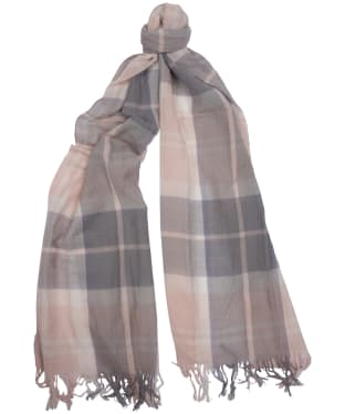 Women's Barbour Summer Dress Wrap - Pink / Grey Tartan
