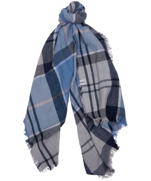 Women's Barbour Freya Wrap - Fade Blue Tartan