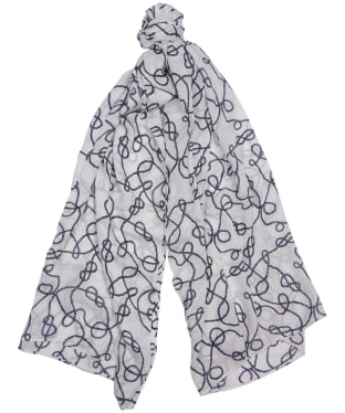 Women's Barbour Rope Print Wrap - White