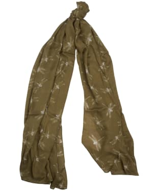 Women's Barbour Dragonfly Wrap - Country Green