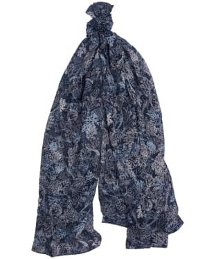Women's Barbour Coral Print Wrap - Navy