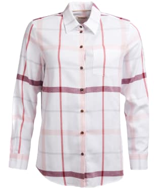 Women's Barbour Oxer Shirt - Powder Pink Check