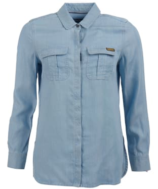 Women's Barbour International Hurdle Shirt - Bleach Wash