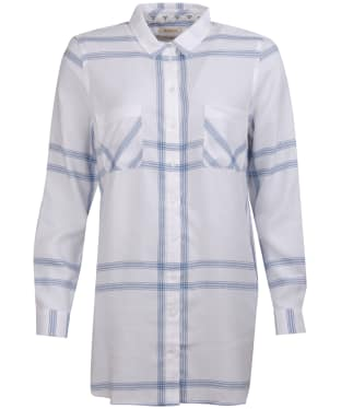 Women's Barbour Baymouth Shirt - White / Breeze Blue