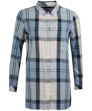 Women's Barbour Ervine Shirt - Fade Blue Tartan