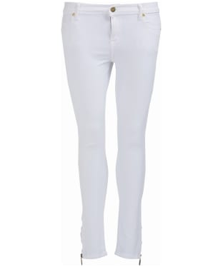 Women's Barbour International Durant Cropped Jeans - White