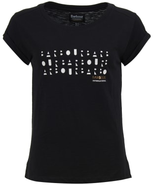 Women's Barbour International Backline Tee - Black