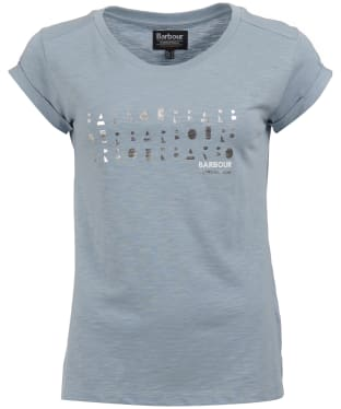 Women's Barbour International Backline Tee - Ice Blue