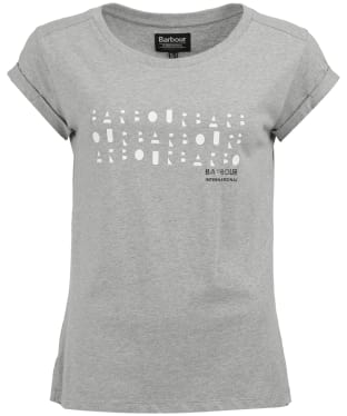 Women's Barbour International Backline Tee - Light Grey Marl