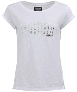 Women's Barbour International Backline Tee - White