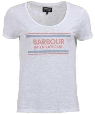 Women's Barbour International Perez Tee - White