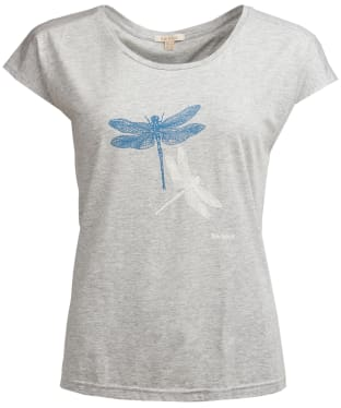 Women's Barbour Wansfell Tee - Light Grey Marl