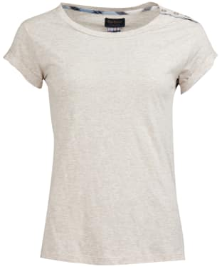 Women's Barbour Redgarth Tee - Oatmeal Marl