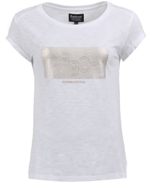 Women's Barbour International Hurdle Tee - White