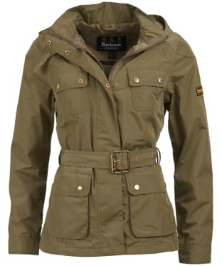 Women's Barbour International Division Waterproof Jacket - Lt Army Green