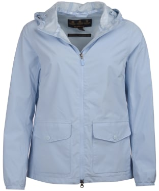 Women's Barbour Abrasion Packaway Waterproof Jacket - Powder Blue