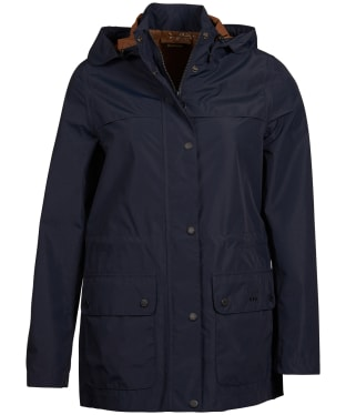 Women's Barbour Drizzel Waterproof Jacket - Navy