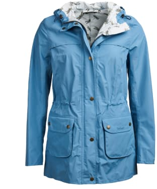 Women's Barbour Aire Waterproof Jacket - Blue Heaven