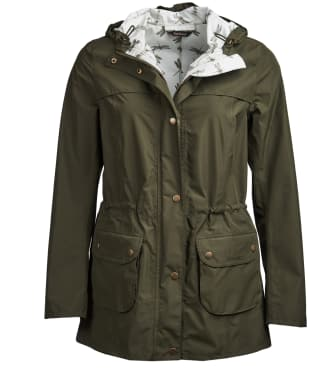 Women's Barbour Aire Waterproof Jacket - Olive