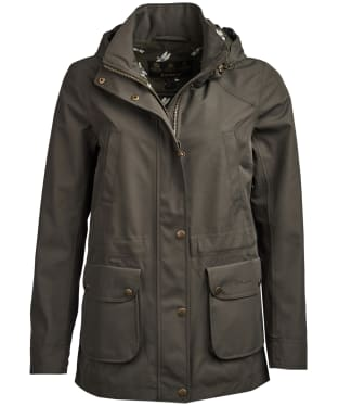 Women's Barbour Stoat Waterproof Jacket - Olive