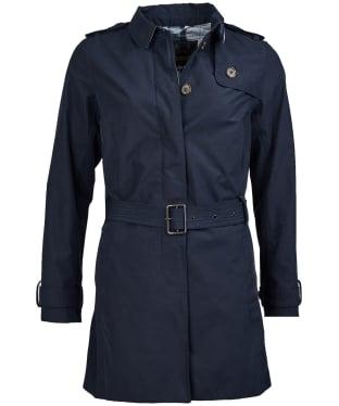 Women's Barbour Quarry Waterproof Trench Jacket - Navy